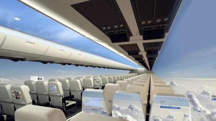 Avião transparente pode incrementar e melhorar a experiência de voar.